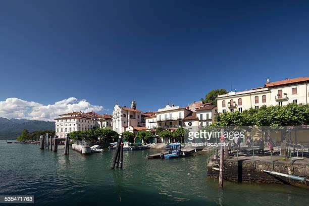 Famous Isola Bella harbor, Lago Maggiore