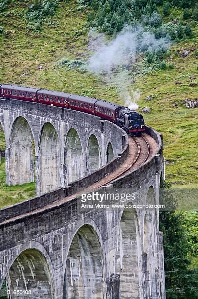 Famous Jacobite steam train