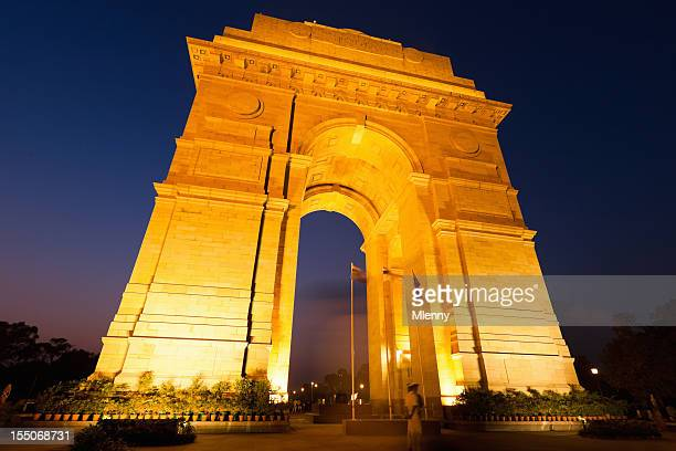 famous landmark india gate new dehli - mlenny photography stock pictures, royalty-free photos & images