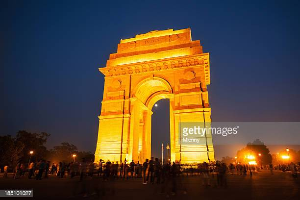 famous landmark india gate new dehli - monument stock pictures, royalty-free photos & images