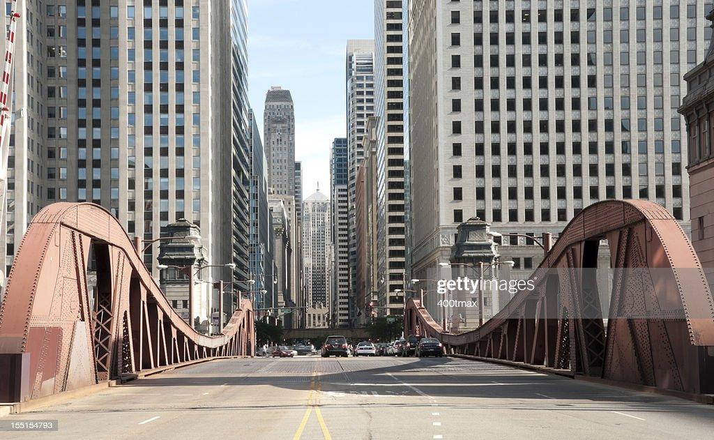 Famous LaSalle Street Bridge : Stock Photo