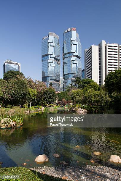 Famous Lippo Centre office towers, Hong Kong