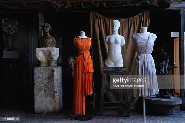 Famous Madame Gres Fashion Show At Bourdelle Museum In Paris Paris March 7 2011 exhibition of collections of museum Galliera 'Madame Gres the sewing...