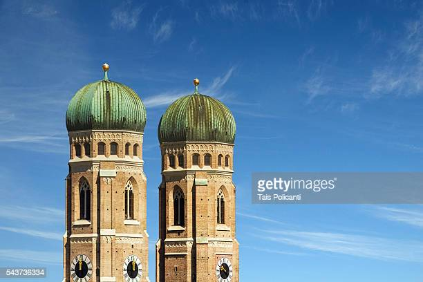 Famous Munich Cathedral Frauenkirchen in the city centre of Munich, Bavaria, Germany.