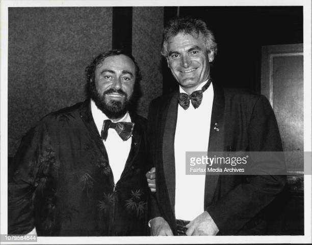 Pavarotti with Dame Joan Sutherland's son Adam BonyngeFrom inside the world's greatest tenor Luciano Pavarotti the fat man of yesterday has broken...