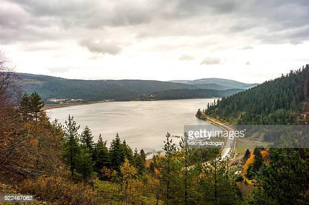 Famous natural abant lake near bolu turkey