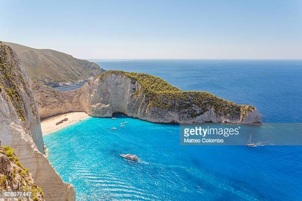 Famous Navagio shipwreck beach. Zante, Greece