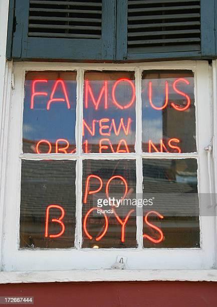 famoso new orleans po boys - new orleans - fotografias e filmes do acervo