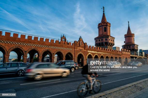 Berlin, Germany - September 21, 2015: Famous Oberbaumbrücke in Berlin