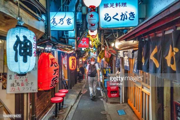 Famous Omoide Yokocho in Tokyo, Japan