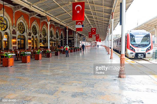 Famous orient express train station in Istanbul Turkey