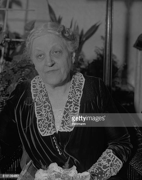 Famous Peace Worker Celebrates Birthday Mrs Carrie Chapman Catt worldfamous peace advocate and suffrage worker is seen here in her home in New...