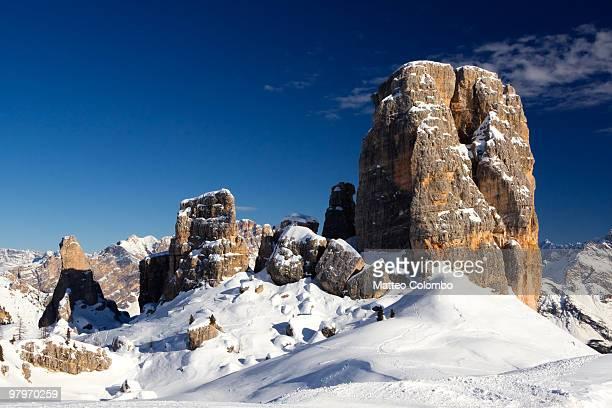 Famous peak called ' cinque torri '