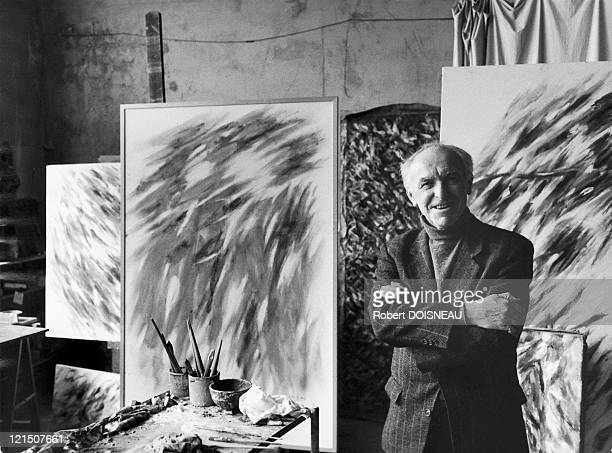 Famous Photographer Robert Doisneau At Abstract Painter Jean Bazaine'S Home