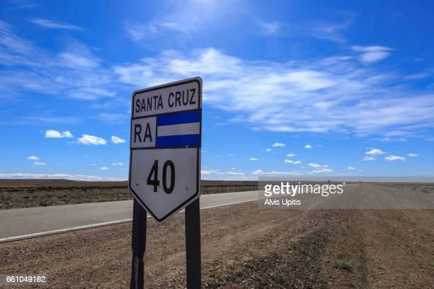famous route 40 in argentina in santa cruz provence. - number 40 stock photos and pictures