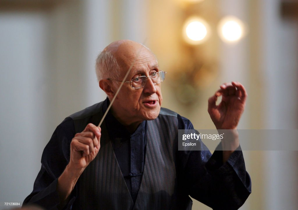 Famous Russian cellist and conductor Mstislav Rostropovich photographed on September the 22nd of 2006.