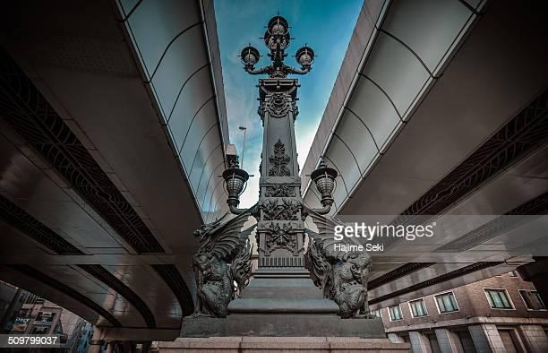 A famous sculpture of the bridge of Nihonbashi