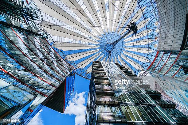 Famous Sony Center at Potsdamer Platz, Berlin, Germany