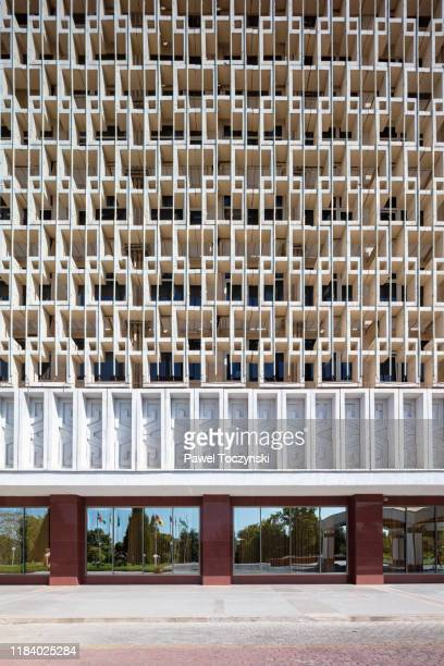 famous soviet-built hotel uzbekistan in central tashkent, uzbekistan - dictator stock pictures, royalty-free photos & images