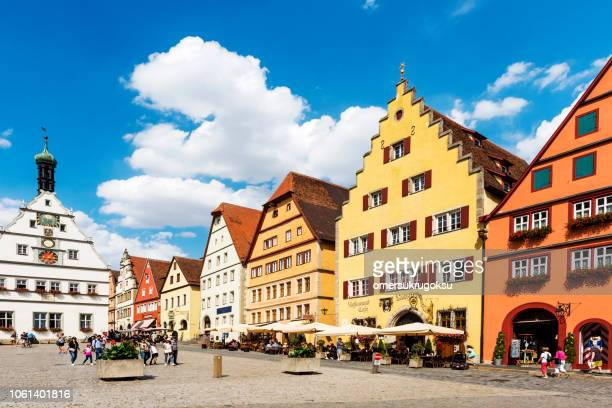 Famous square in Rothenburg ob der Tauber, Germany