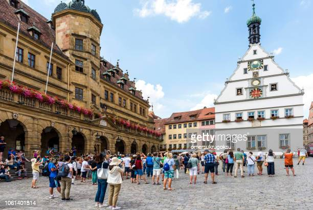 Famous square Rothenburg ob der Tauber, Germany