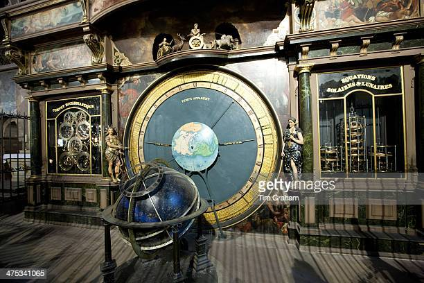 Famous Strasbourg Astronomical Clock perpetual mechanical Gregorian computus in South Transept of The Cathedral of Notre Dame Our Lady of Strasbourg...