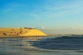 Famous Sunset dune in Jericoacoara, Brazil