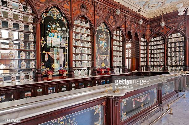 Famous Taquechel Pharmacy dating from the 19th century, Old Havana.