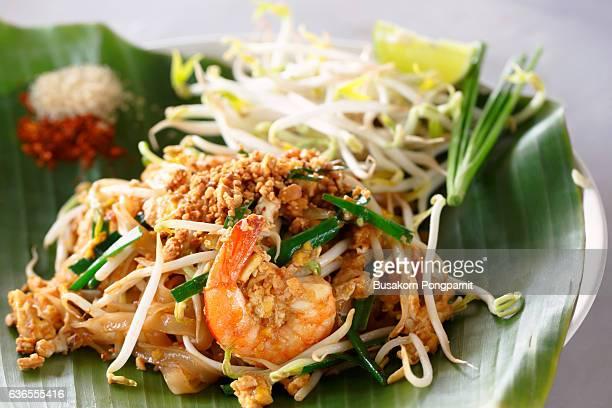 Famous Thai's dish Phad thai. Fried noodle