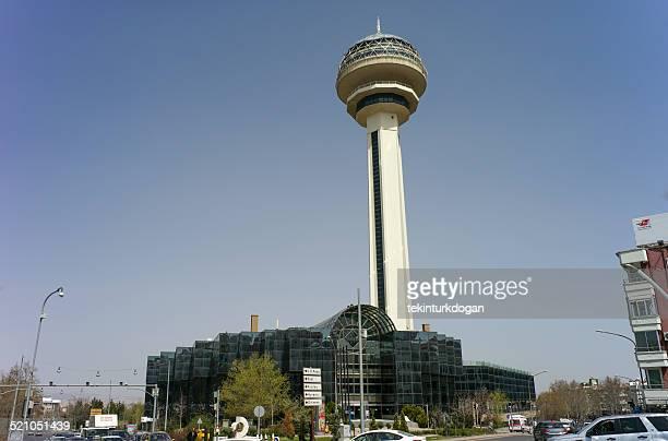 famous tower atakule at ankara turkey - cankaya district ankara stock pictures, royalty-free photos & images