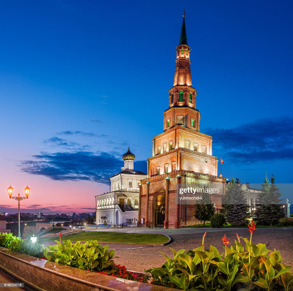 famous Tower of Kazan : Stock Photo