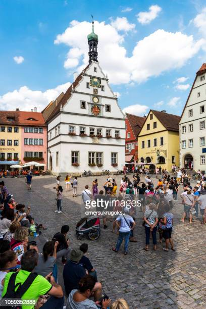 Famous town square Rothenburg ob der Tauber, Germany