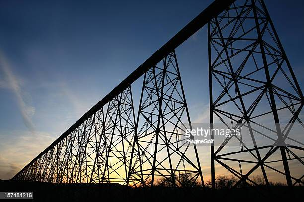Famous Trestle Bridge in Lethbridge Alberta