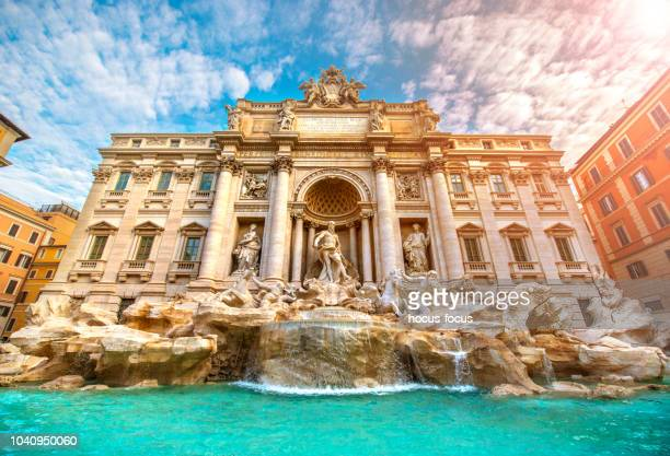 famous trevi fountain rome italy - rome italy stock pictures, royalty-free photos & images