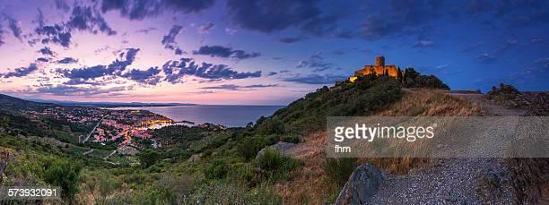 Famous village Collioure/ France at sunset