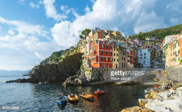 Famous village of Cinque Terre in Liguria in day , Italy , Europe