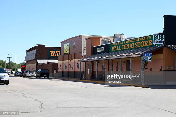 famous wall drug in south dakota - south dakota stock photos and pictures