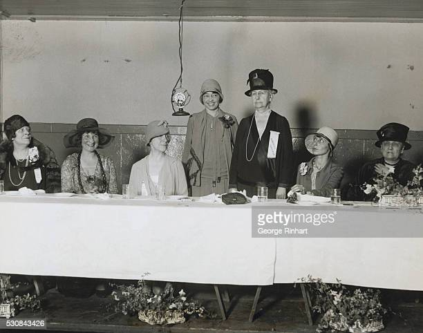 Famous Women Have Luncheon at Woman's World's Fair Chicago Illinois Two straws to show which the wind blows were blown skyward yesterday when at the...