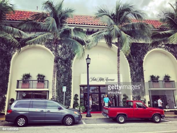 Berühmte Wert Avenue, Einkaufsstraße, Palm Beach, FL, USA