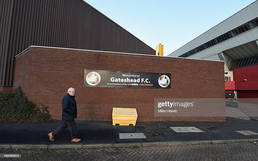 Gateshead FC v Warrington Town - FA Cup Second Round : News Photo