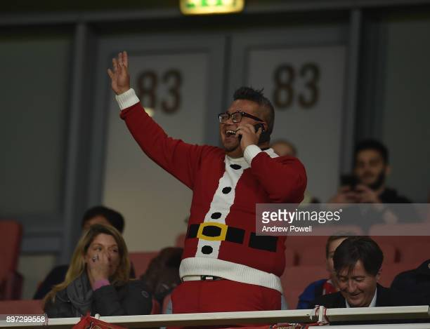 Fan At The Emerites Stadium during the Premier League match between Arsenal and Liverpool at Emirates Stadium on December 22 2017 in London England