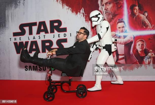 A fan attends Star Wars The Last Jedi Sydney Screening Event on December 13 2017 in Sydney Australia