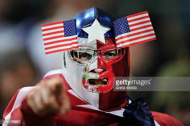 A US fan attends the 2011 Rugby World Cup pool C match Australia vs the US at Wellington Regional Stadium on September 23 2011 AFP PHOTO / GREG WOOD
