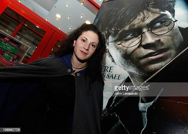 A fan attends the IMAX and Harry Potter fan celebration for the midnight screening of 'Harry Potter and the Deathly Hallows Part 1' at AMC Loews Kips...