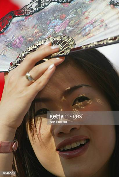 Fan awaits the start of the Group A match against Uruguay during the World Cup Group Stage played at the Ulsan-Munsu World Cup Stadium, Ulsan, South...