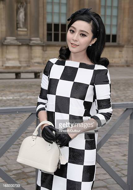 Fan Bing Bing arrives to attend the Louis Vuitton Fall/Winter 2013 ReadytoWear show as part of Paris Fashion Week on March 6 2013 in Paris France