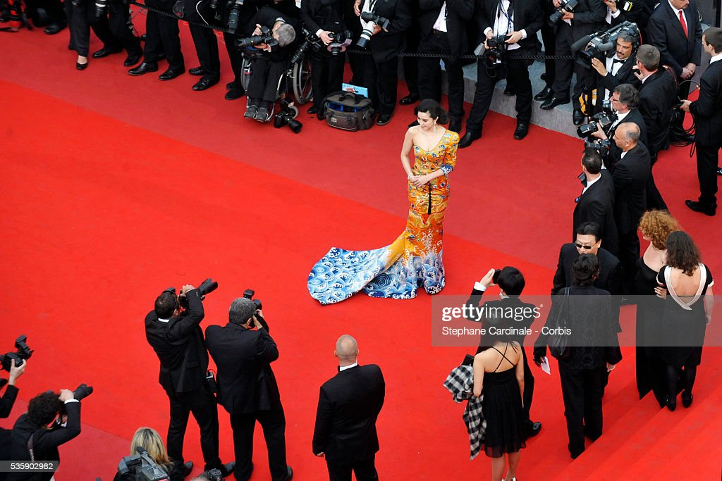 Fan Bing Bing at the premiere of ''Robin Hood' during the 63rd Cannes International Film Festival.