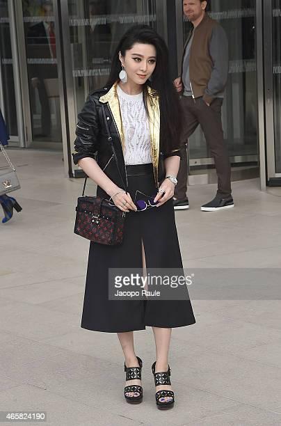 Fan Bing Bing depart the Louis Vuitton show as part of Paris Fashion Week Fall Winter 2015/2016 on March 11, 2015 in Paris, France.