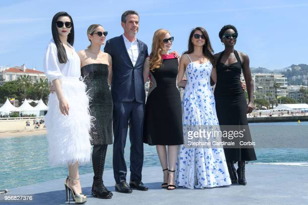 Fan Bing Bing Marion Cotillard director Simon Kinberg Jessica Chastain Penelope Cruz and Lupita Nyong'o attends the '355' Photocall during the 71st...