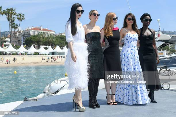 Fan Bing Bing Marion Cotillard Jessica Chastain Penelope Cruz and Lupita Nyong'o attend the 355 Photocall during the 71st annual Cannes Film Festival...